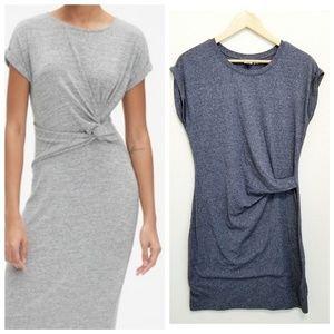New GAP Soft Jersey Knit Side Knot Twist Dress